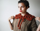 The Lacy Collar Scarf in Autumn Spice Wool Blend