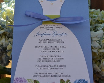 Hydrangea Bridal Shower Dress Invitation