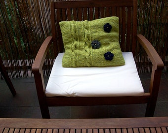 Spring pillow with pillowcase