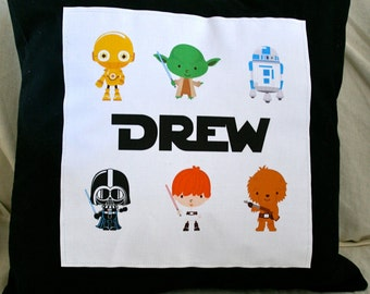 Custom Name Pillow-Star Wars Characters 14x14