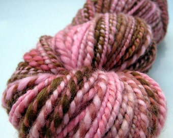 SALE - 100% Wool Handspun Yarn - 100 yards