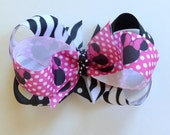 Minnie Mouse Triple Stack Hair Bow