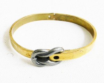 Vintage Brass Bracelet with Buckle Hinge Design Belt
