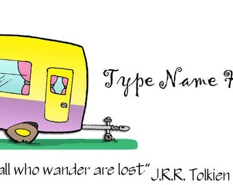 Happy Camper Place Card Template
