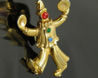 Vintage Clown Clanging Cymbals Tac Pin