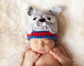 Bulldog Crochet Beanie / Hat