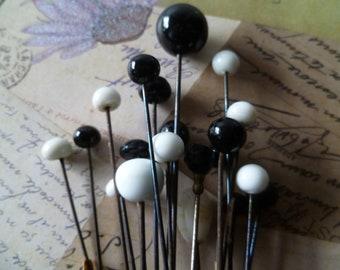 1 Antique Victorian Glass Hat Pins