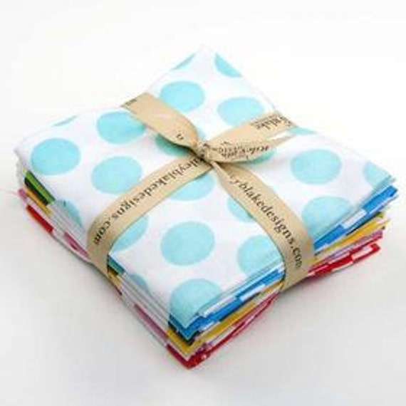 STORE CLOSING Sale Riley Blake Ombre Dots Fat Quarter Bundle 8