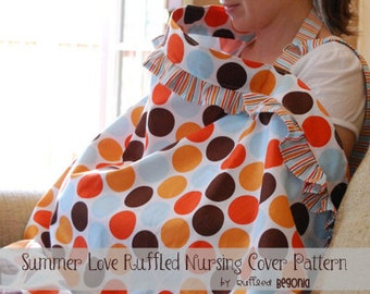 Breastfeeding Cover with Ruffles digital PDF SEWING PATTERN