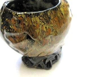 Dripware Vase Handthrown Rustic Signed