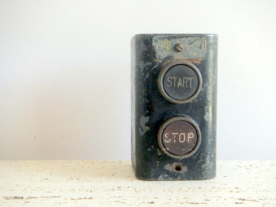 Metal Industrial Box with Start/Stop Buttons