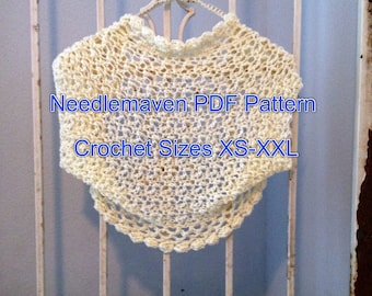 Crochet Pattern PDF File Claire Shrug Women or Teens Cardigan Bolero XS-XXL Sweater weddings