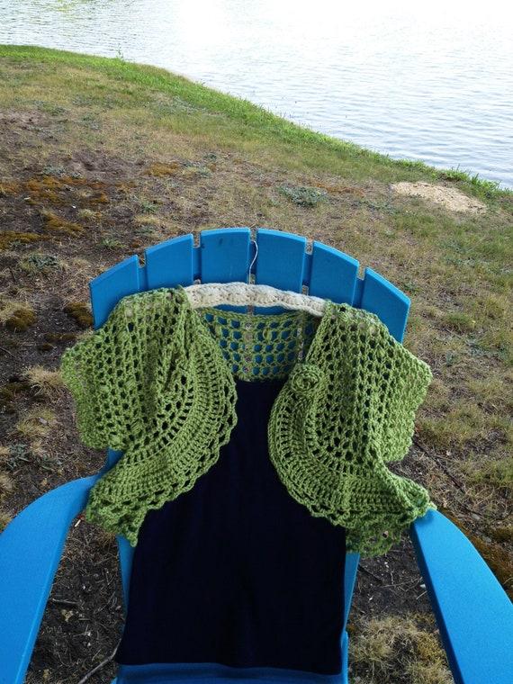 Lakeshore Vacation PDF Crochet Pattern Shrug Women or Teens Cardigan Bolero Sweater XS-XXL