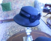 Black Wool Ladies Hat