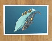 Shrimp Shadow, Limited Edition Whale & Viking Print