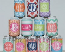 Can Holder - Monogrammed Huggie - Personalized Custom Can Holder - Can Hugger