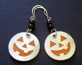 Reserved for di booth Earrings Trick or Treat Now Give Me Some Candy  Popcan Pumpkins