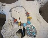 Western Jewelry Cowgirl/Chunky Western Jewelry/Horse Jewelry/Cowgirl Jewelry/Western Pendant