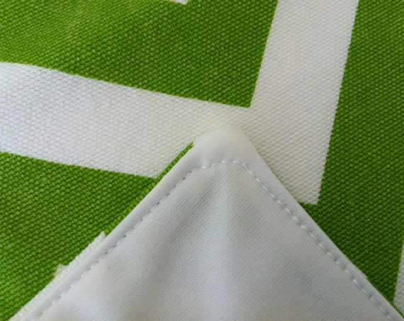 Changing Pad - Waterproof and Washable - Chartreuse Chevron