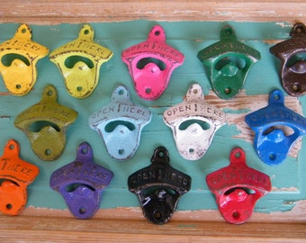 Bottle Openers SALE set of 2  Wall Mount Bottle Openers Bachelorette Groomsmen Gifts - Party Favors  - Optional matching Screws