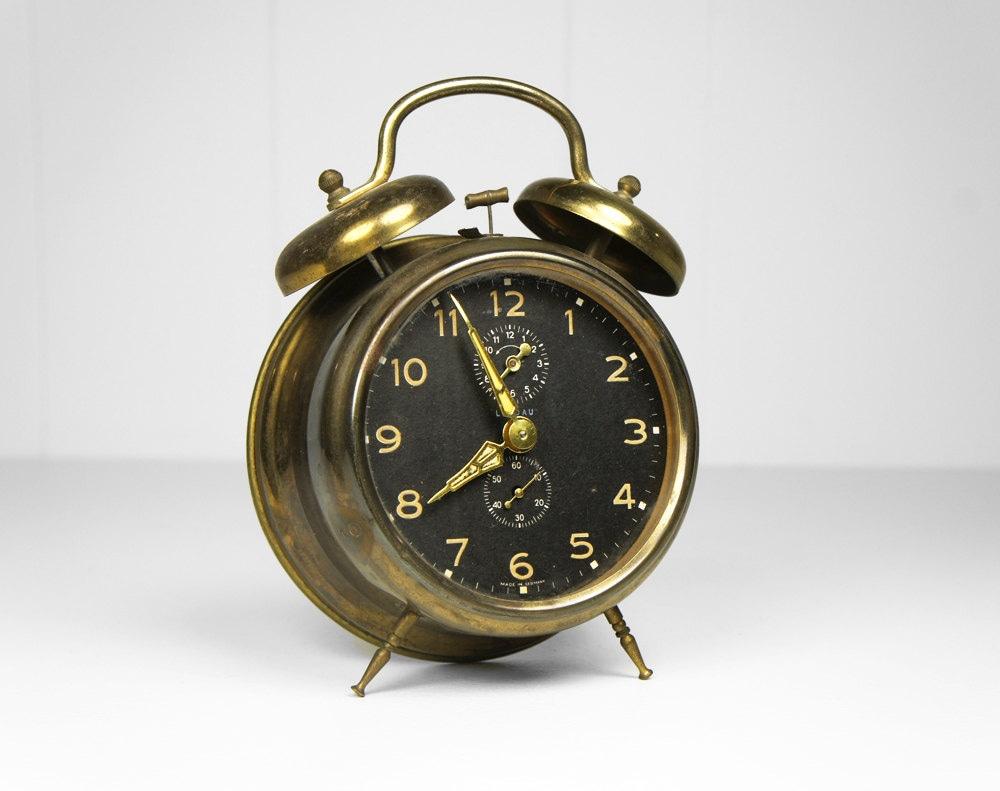 Vintage 1940's German Landau Alarm Clock by HoofAndAntler ...