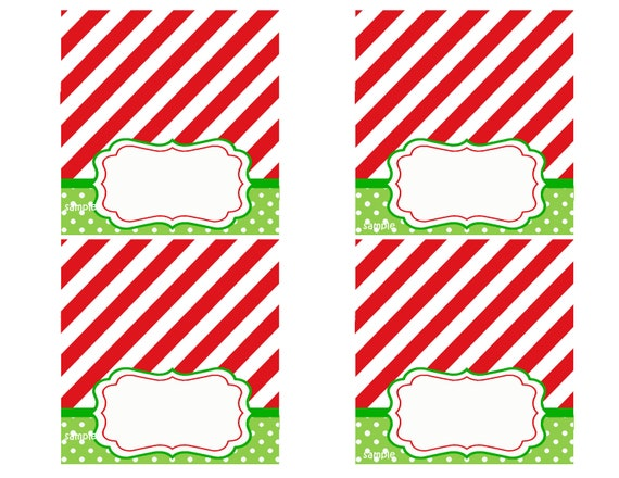 ... Party Tent Style Place Cards Printable - Magic of Christmas Collection