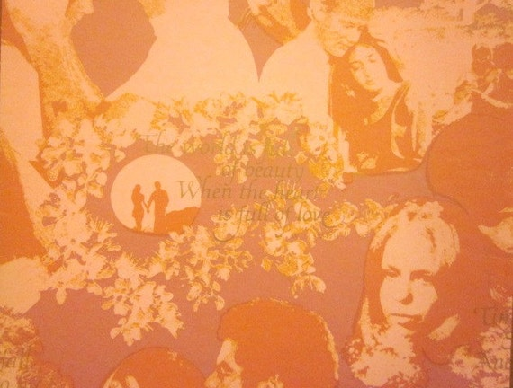 Vintage Wrapping Paper - Heart Full of Love - One Sheet Gift Wrap - Hallmark