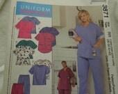 Womens scrubs petite sewing patterrn McCalls 3871 uncut