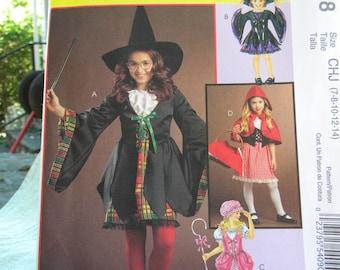 childs witch costume uncut pattern McCalls m5728