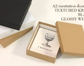 A2 Card Set Stationery Packaging Invitation Boxes (Black, Kraft & White)