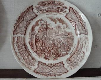 Vintage Alfred Meakin Staffordshire England plates - set of 4