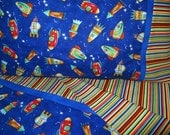 Rocket ships bedding Toddler boy bedding rockets crib sheet set 3 pc boy nursery infant bedding