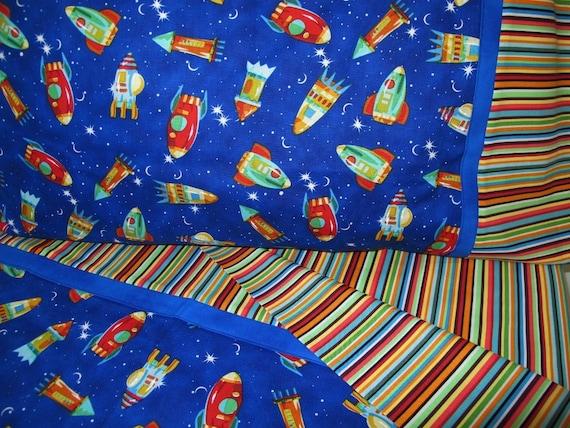 Items Similar To Rocket Ships Bedding Toddler Boy Bedding