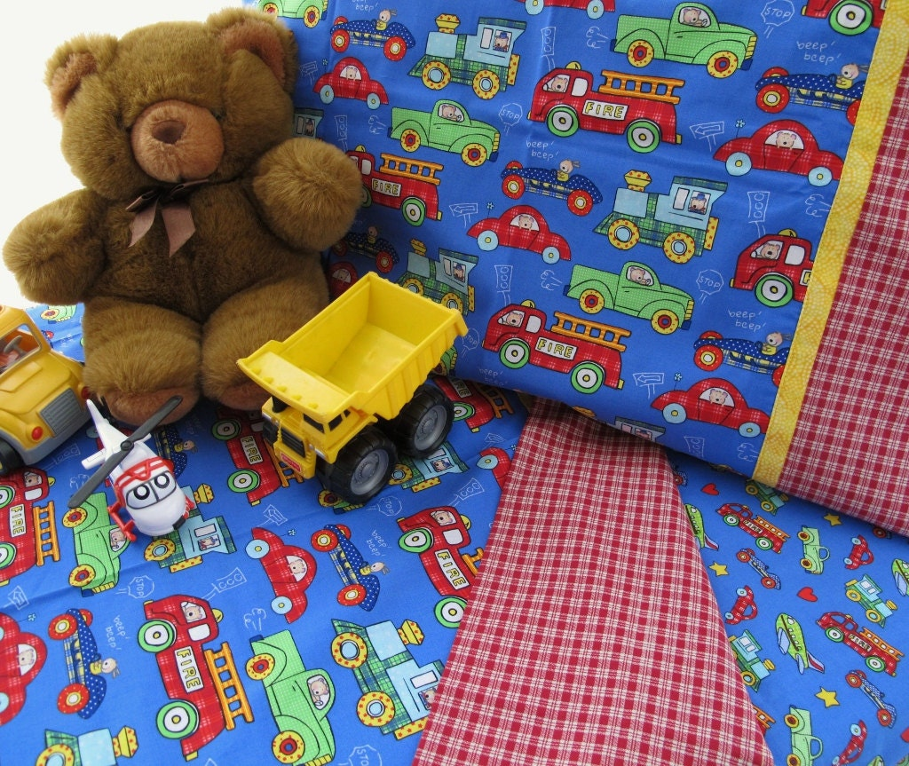 Boy Toddler Bedding Trucks Cars Planes Print Crib By Kidsstore