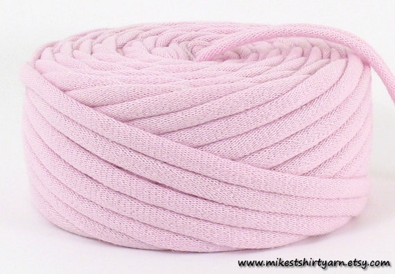 TShirt Yarn Recycled Pink 24 Yards Super Bulky Crafting Cord