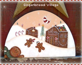 E PATTERN - Gingerbread Village -  Sweet house & gingers - New for 2012 - Terrye French design, Painted by Me