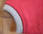 Wool diaper cover red- The Cache-Popo size medium