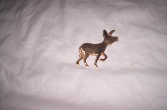 vintage pin brooch napier goldtone donkey