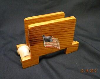 Napkin Holder, handmade, Americana, sewing spools