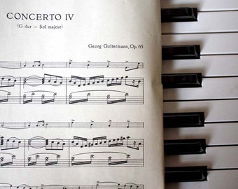 Mid Century Vintage Sheet Music.Goltermann. Concerto IV No.1459.  12 Pages. Ships free.