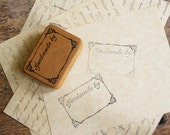 Handmade By Logo Rubber Stamp dated 1987