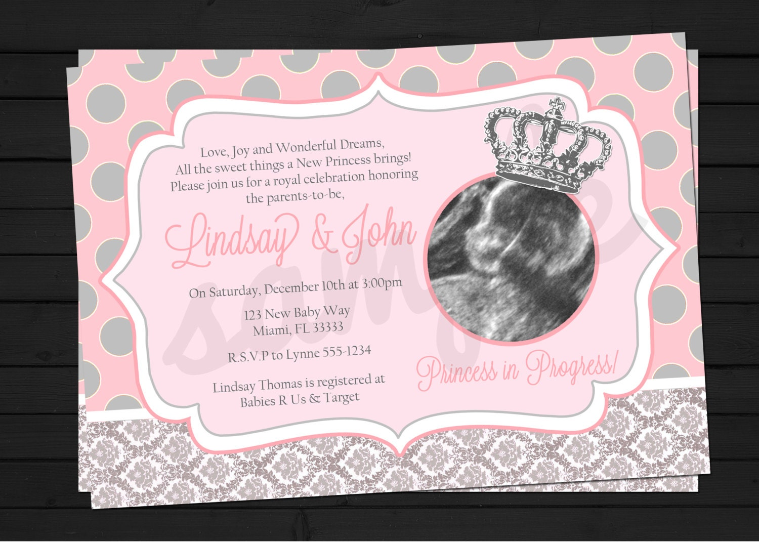 Little Princess in Progress Baby Shower Invitation Digital