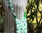 green shamrocks and ladybugs saddlebag purse