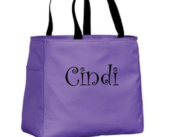 Bridesmaid Gift Custom Tote Bag Embroidered Cheer Dance Monogrammed Embroidery Baby Wedding