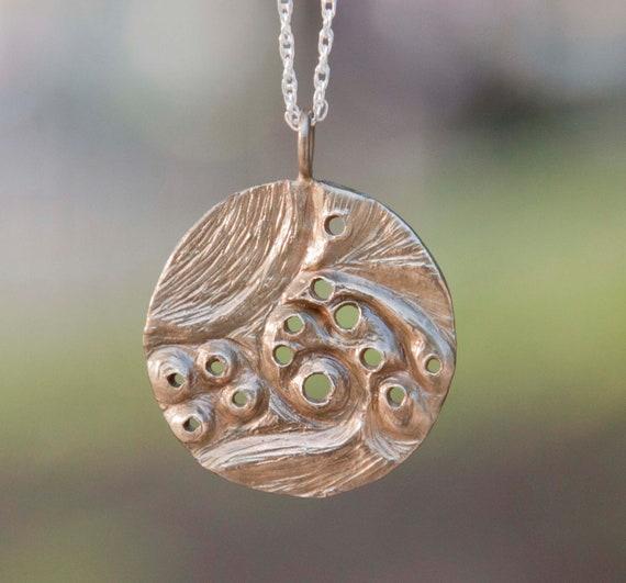 Virgo Constellation Zodiac Necklace - Golden Brass