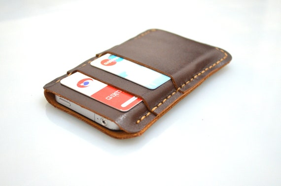 iphone 5 wallet case for men gift for mens gift custom iphone 5 tech accessory 19309