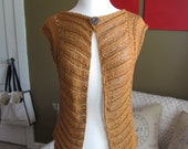 Chevron Feather Lace Vest Pattern--PDF