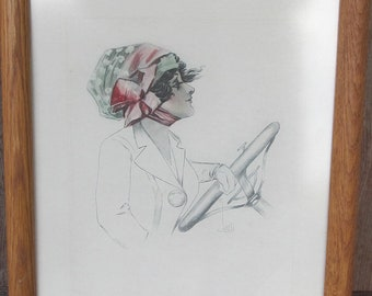 Vintage womens hat advertisment print