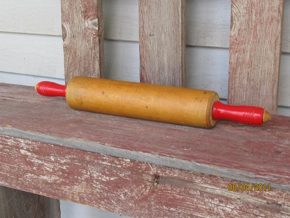 Vintage wood rolling pin