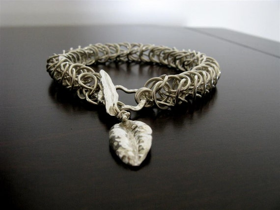 Stunning Unisex  Handmade Chainmaille  Bracelet in Sterling Silver - Fine Jewelry - Handmade Jewelry - Ready to ship